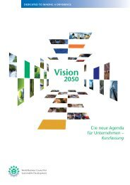 Vision 2050 - World Business Council for Sustainable Development