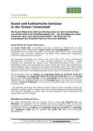 PDF-Datei: GrazSüchtig Fest Schulanfang 2009 - Graz Tourismus