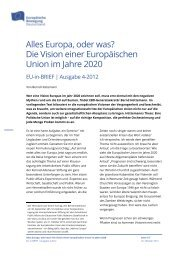 Alles Europa, oder was? Die Vision einer Europäischen Union im ...