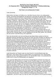 Die Vision vom umfassenden Frieden - Pommersche Evangelische ...