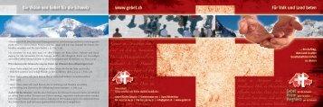 www.gebet.ch Die Vision von Gebet für die Schweiz Für Volk und ...