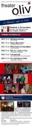 Spielplan Herbst 2012 - Filiale Germersheim - Theater Oliv