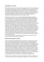Junge Kirche - die Vision Kommt die Junge Kirche Aachen?