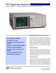 FFT Spectrum Analyzers - Prager Elektronik