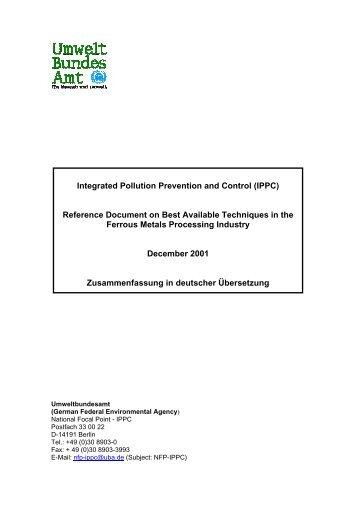 Integrated Pollution Prevention and Control (IPPC) - Beste ...