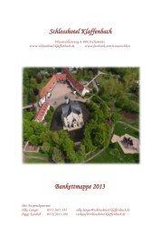 Schlosshotel Klaffenbach Bankettmappe 2013