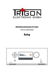 Bedienungsanleitung - Trigon Elektronik GmbH