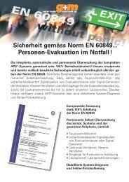 Sicherheit gemäss Norm EN 60849... Personen ... - g+m elektronik ag