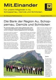 Mit.Einander - Raiffeisenbank Au