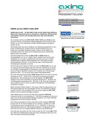 Neuheiten zur ANGA Cable 2008 - Axing