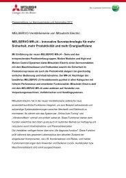 MELSERVO MR-J4 - Mitsubishi Electric