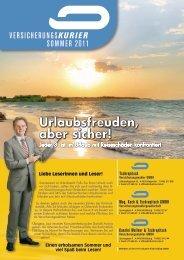 VersicherungsKurier sommer 2011 - Tschrepitsch