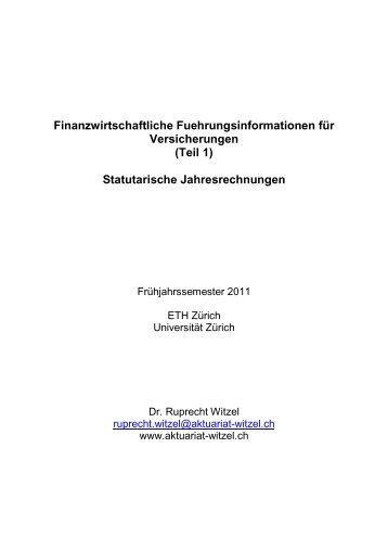Finanzwirtschaftliche Fuehrungsinformationen für Versicherungen ...