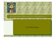 Versicherung - Kreisverband Mittweida der Kleingärtner eV