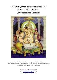 Das große Mahabharata 10. Buch - Sauptika Parva