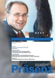 zum Kundenmagazin «Präsenz - Wirtschaft - Berner Fachhochschule
