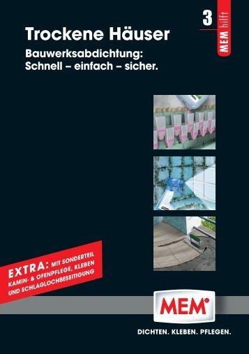 Broschüre TROCKENE HÄUSER. BAUWERKSABDICHTUNG