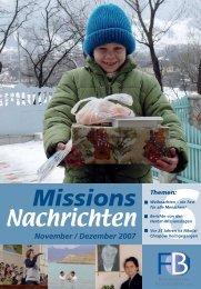 Dezember 2007 - Missionswerk FriedensBote