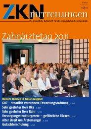 Zahnärztetag 2011 - Zahnärztekammer Niedersachsen