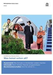 Ausgabe 1/2013 als (PDF, 9 MB) - Bildungsdirektion - Kanton Zürich