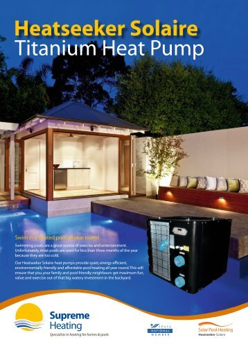 Heatseeker Solaire Heat Pump Brochure - Supreme Heating