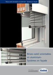 Brises-soleil orientables en aluminium- Systèmes en façade