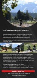 Elektro Motocrosspark Dachstein - Rittisberg