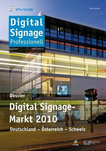 Digital Signage- Markt 2010 Dossier Deutschland - Dimedis