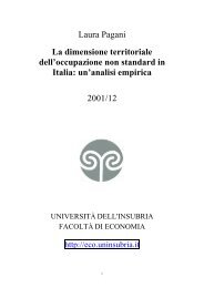 La dimensione territoriale dell'occupazione non standard in Italia ...