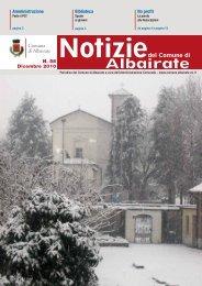 Notiziario dicembre 2010 - Comune di Albairate