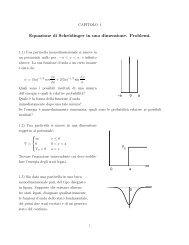 Equazione di Schrödinger in una dimensione. Problemi.