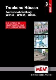 3 Trockene Häuser - MEM Bauchemie GmbH