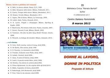 lavoro economia politica per una nuova Italia e - Comune di SCHIO