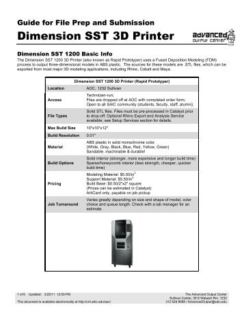 Dimension SST 3D Printer