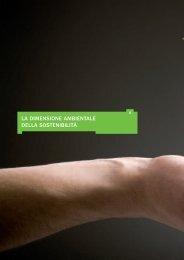 la dimensione ambientale della sostenibilità - Bilancio di ...
