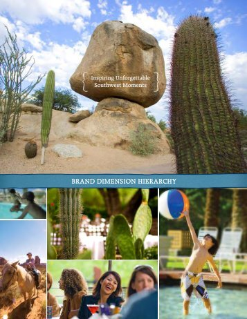 BRAND DIMENSION HIERARCHY - Arizona Office of Tourism
