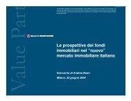 """Le prospettive dei fondi immobiliari nel """"nuovo ... - Value Partners"""