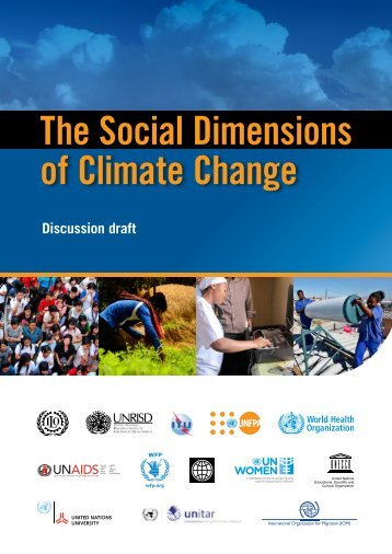 The Social Dimension of Climate Change (Discussion draft)