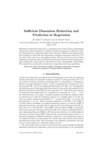 Sufficient Dimension Reduction and Prediction in Regression