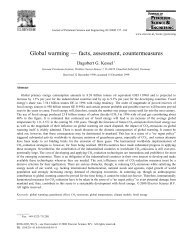 Global warming — facts, assessment, countermeasures