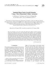 Simulated Brain Tumor Growth Dynamics Using a Three ... - MIT