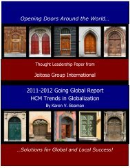 2011-2012 Going Global Report HCM Trends in Globalization