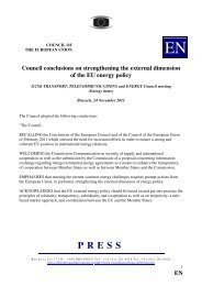 Council conclusions on strengthening the external ... - Europa