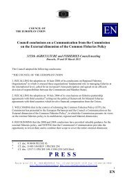 Council conclusions on a Communication from the ... - Europa
