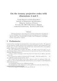 On the ternary projective codes with dimensions 4 and 5 - Institute Of ...