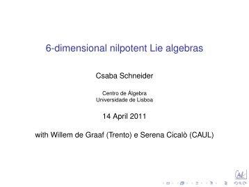 6-dimensional nilpotent Lie algebras - Sztaki