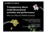 Transparency about multi-dimensional activities and ... - A3ES