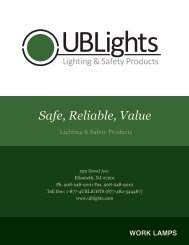 WORK LAMPS - UBLights