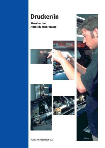 Drucker/in - Struktur der Ausbildungsordnung - ZFA