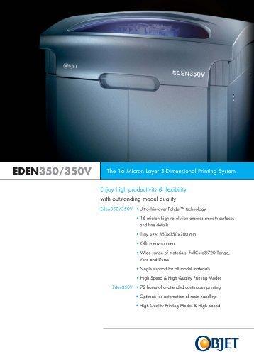 EDEN350/350V - Objet Geometries